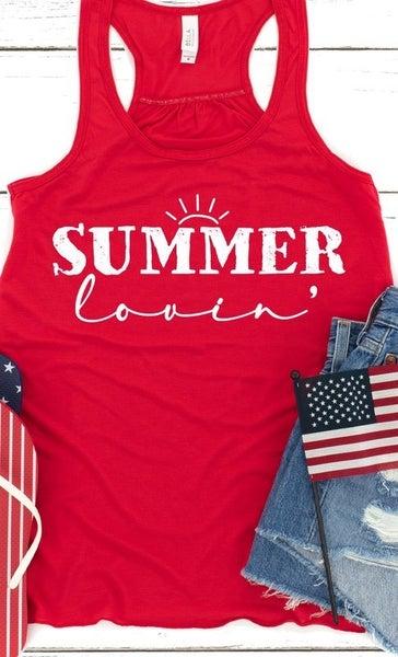 Summer Lovin Graphic Tank Top