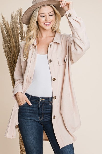 Plush Button Up Oversize Jacket