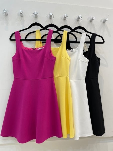 Sleeveless Heavy Knit Fit and Flare Dress