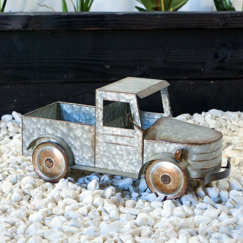 Galvanized Metal Planter Truck