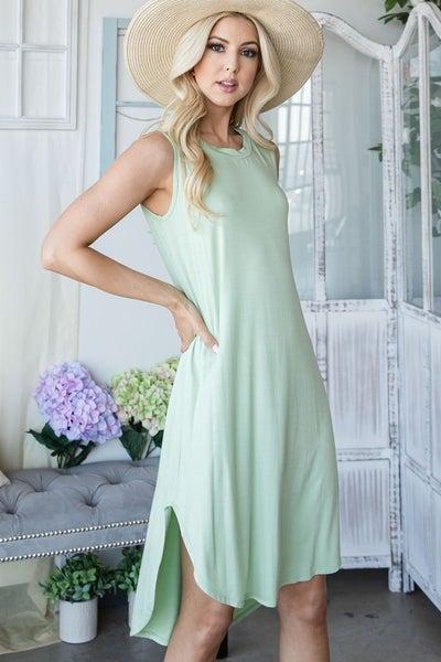 Lightweight Dress with Hi-Low Hem