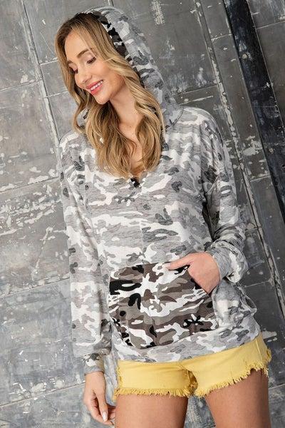 Inside Out Camo Hooded Long-Sleeve