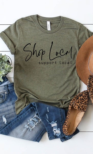 Curvy Shop Local Support Local Graphic Tee