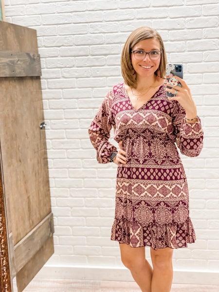 Aztec Print Woven Mini Dress