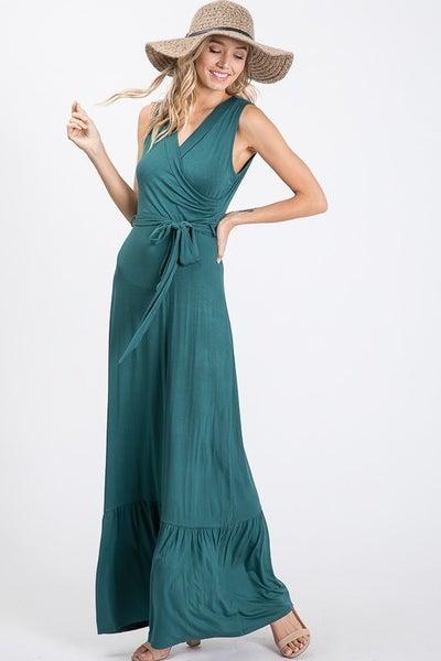 Sleeveless Belted Maxi Dress