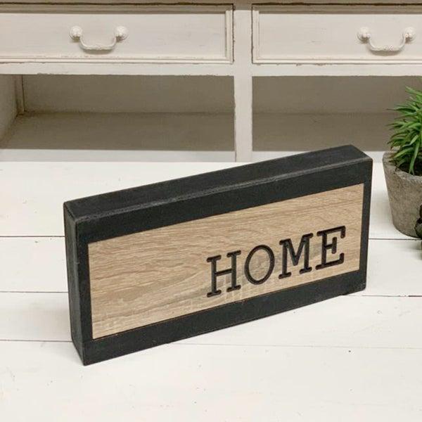 "2 Tone Wood Block \""Home\"" Sign"
