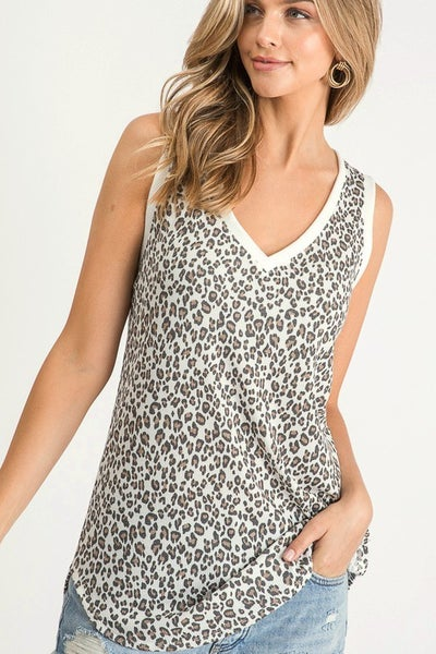 Leopard Thermal Knit Top