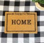 SO HAPPY TO BE HOME DOOR MAT
