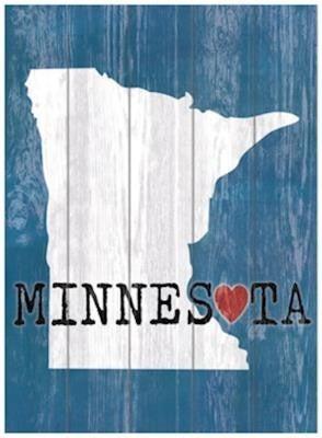Wood Minnesota Wall Plaque