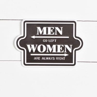 MEN / WOMEN TIN SIGN