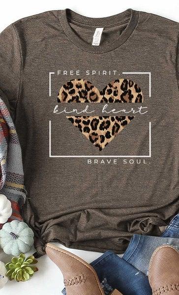 Leopard Free Spirit Graphic Tee