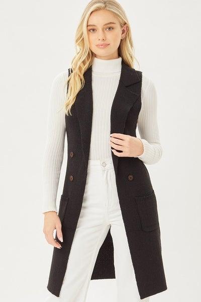 Sleeveless Long Cardigan Vest
