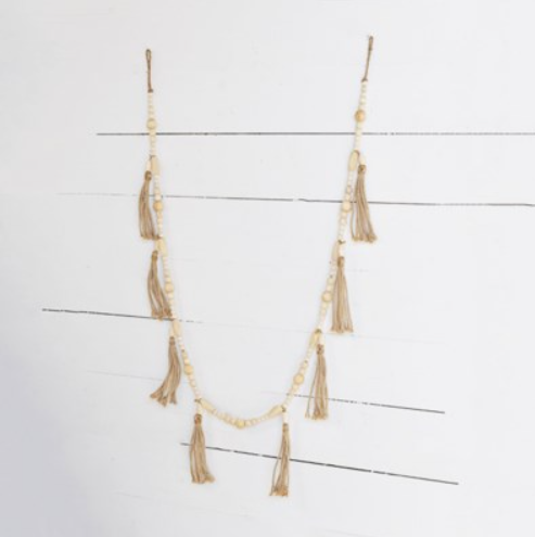 """72"""" BEAD STRAND WITH TASSLES"""