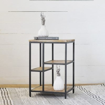WOOD & IRON SIDE TABLE