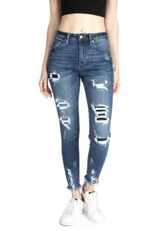 Gemma High Rise Ankle Skinny Jean