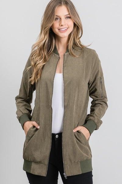 Peach Skin Long Jacket