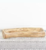 """16"""" WOOD CARVED TRAY SHAPE VARIES"""