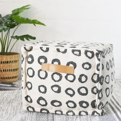 SQUARE SPOTTED POUF