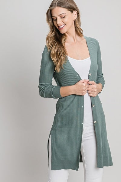Ribbed Duster Cardigan