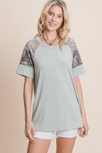 Camo & Leopard Ragland Short Sleeve
