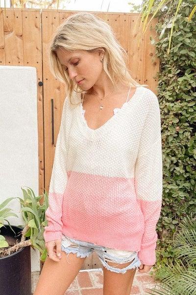 Deep V Neck Sweater Top