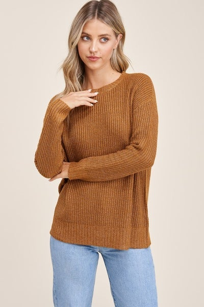 CREW NECK, LONG SLEEVE,  BASIC, SUPER COZY AND SOFT, PULLOVER SWEATER