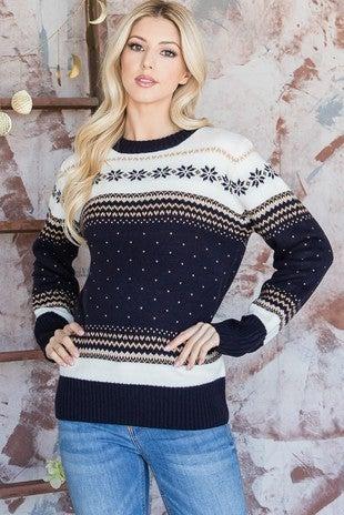 Multi Colored Knit Sweater