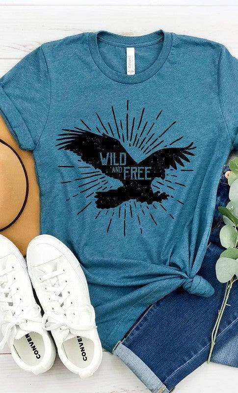 Wild and Free Bird Graphic Tee