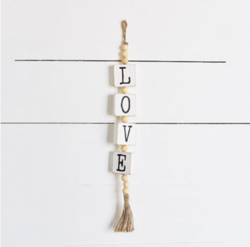 LOVE HANGER WITH BEADS