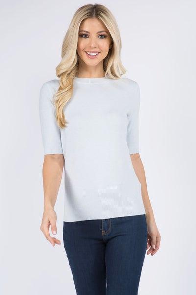Ivory Half Sleeve Sweater Top