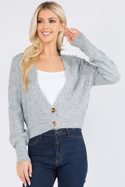 Open Cardigan with buttons