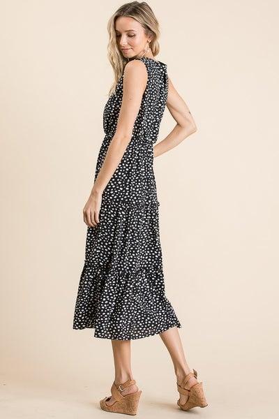 Leopard Print Sleeveless Midid Dress