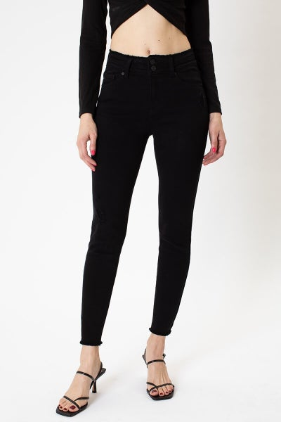 High Rise Detailed Ankle Skinny Jean