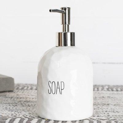 WHITE SOAP PUMP