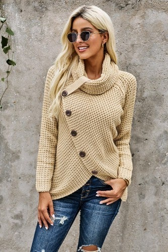 Sweater with Button Down Detail