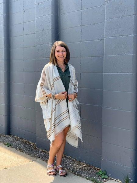 Gold & Silver Stripped Kimono