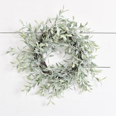 WHISPY DUSTED WREATH 6""