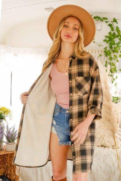 Long Flannel with Fleece Inside