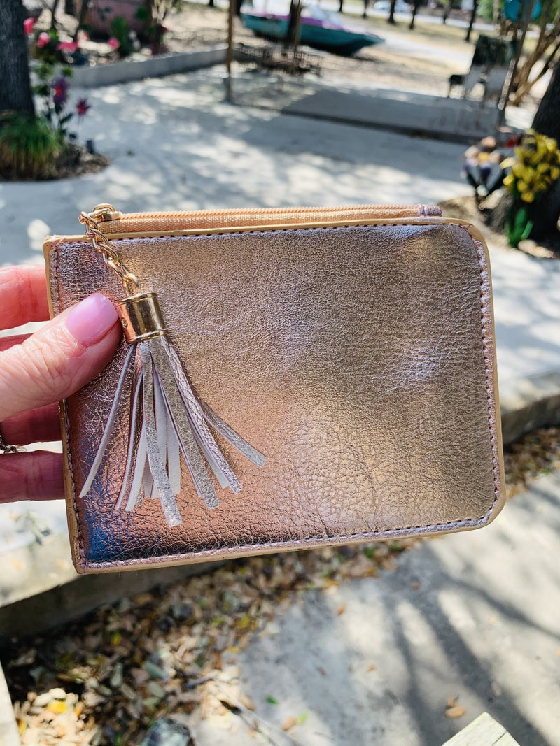 Slim Metallic Card Wallet