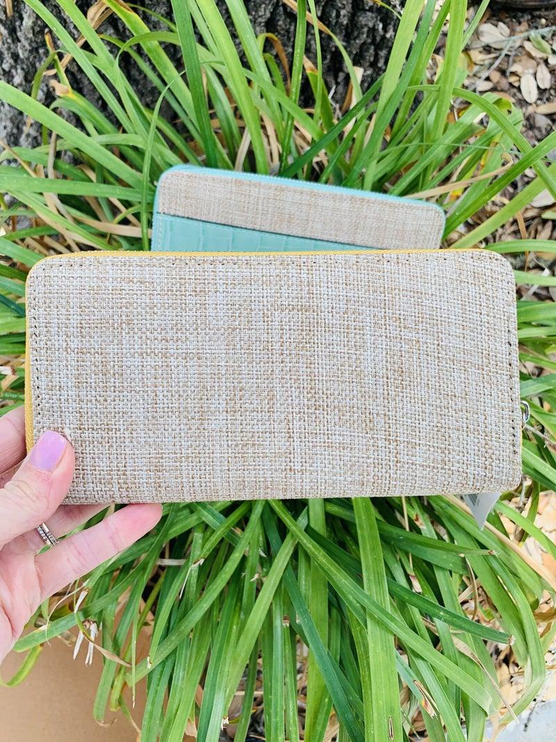 Beach Chic Zip Around Wallet