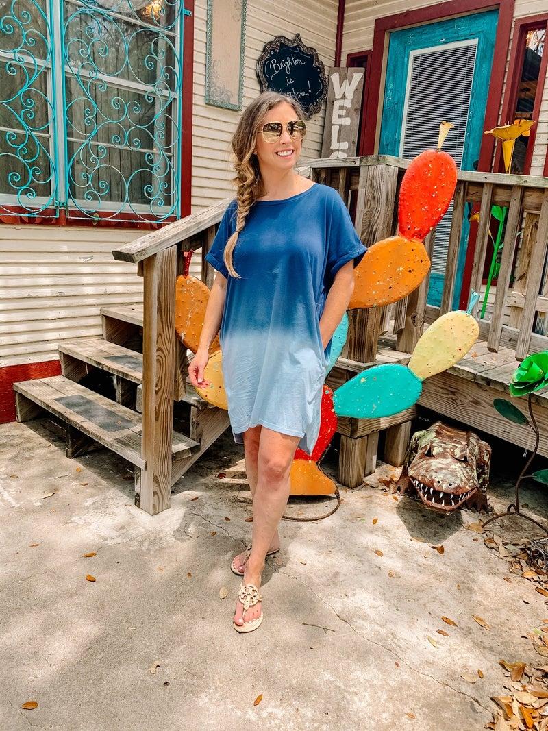 Dip Dye Pocket Dress