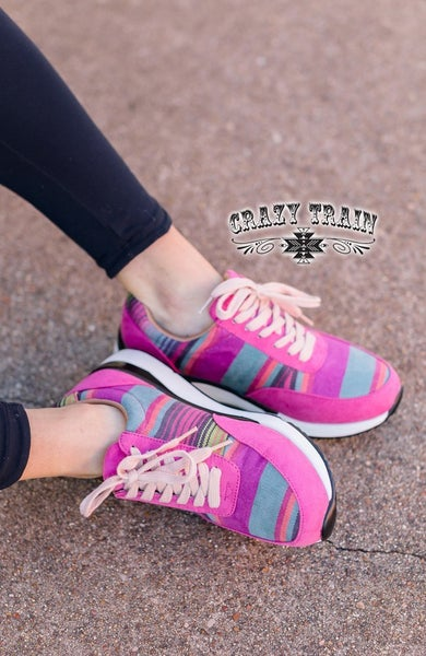 Pink Serape Tennis Shoes |6-10