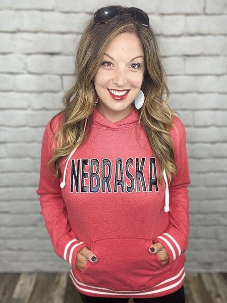 Ruby Red Nebraska Hoodie
