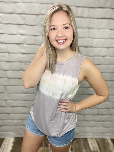 Grey Faded Ombre Sleeveless Top