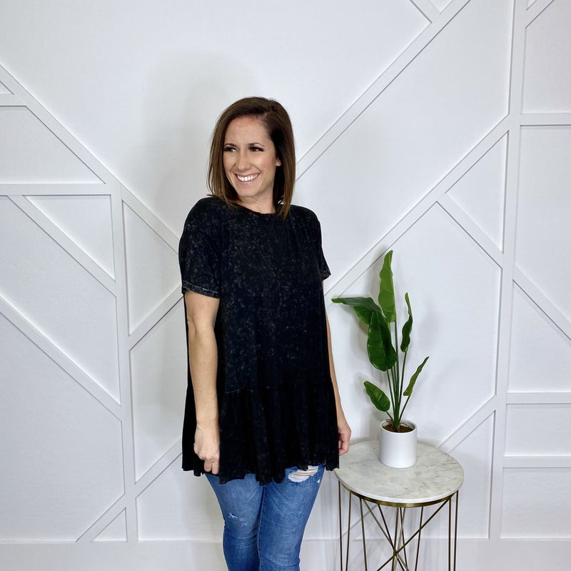 Ash Mineral Washed Tunic