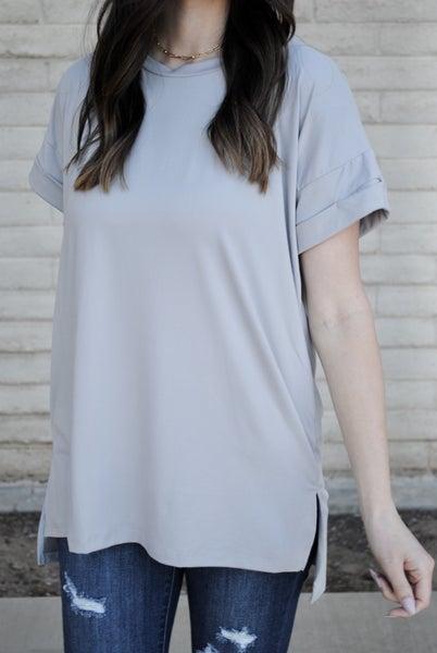 Solid Grey Top