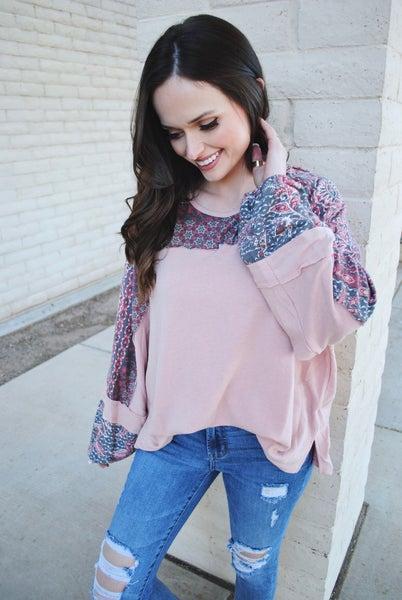 Pink Paisley Long Sleeve