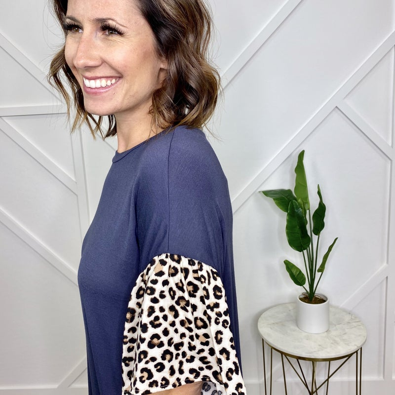 Cement Top w/Leopard Sleeves