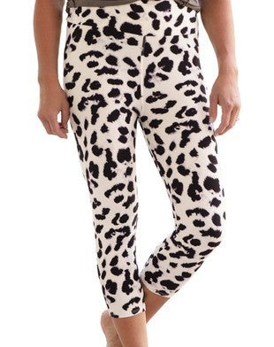Snow Leopard Capri Leggings