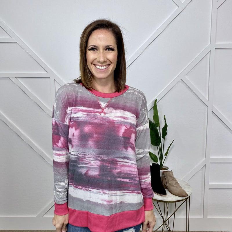 Pink Tie Dye Stripe Weekender